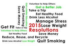 Risoluzione per il nuovo inizio del nuovo anno 2015 Fotografia Stock Libera da Diritti