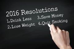 2016 risoluzioni Fotografie Stock