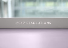 2017 risoluzioni Fotografie Stock