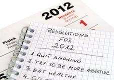 Risoluzioni del nuovo anno Fotografia Stock Libera da Diritti