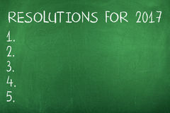 Risoluzioni del nuovo anno per 2017 Fotografia Stock