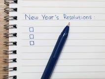 Risoluzioni di nuovo anno Immagini Stock