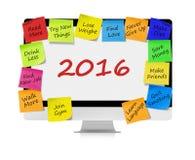 Risoluzioni per 2016 Fotografie Stock Libere da Diritti