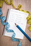 Risoluzioni per il nuovo anno Immagine Stock