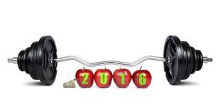 Risoluzioni sane per il nuovo anno 2016 Fotografia Stock