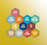 Risoluzioni 2015 una migliore vita per voi Immagini Stock Libere da Diritti