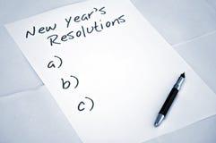 Risoluzioni vuote di nuovo anno Immagini Stock Libere da Diritti