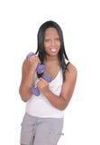 Risolvere africano della ragazza Fotografia Stock
