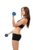 Risolvere della donna di forma fisica Immagine Stock Libera da Diritti