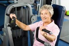 Risolvere della donna più anziana Fotografia Stock Libera da Diritti