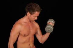 Risolvere muscolare dell'uomo Fotografie Stock Libere da Diritti