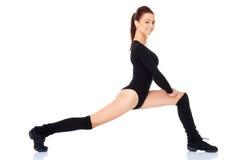 Risolvere sano adatto della donna Fotografie Stock