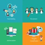 Risorsa umana di team-building Immagine Stock Libera da Diritti
