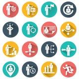 Risorse umane ed icone della gestione impostate Immagine Stock
