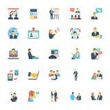 Risorse umane ed icone 7 di vettore colorate gestione illustrazione vettoriale