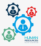 Risorse umane, illustrazione di vettore Fotografia Stock Libera da Diritti