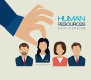 Risorse umane, illustrazione di vettore Fotografie Stock Libere da Diritti