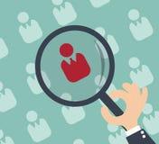 Risorse umane - la verifica e la valutazione personali concentrano Immagine Stock