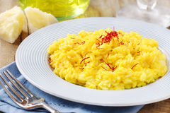 Risoto do açafrão Fotografia de Stock Royalty Free