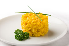 Risoto with saffron Royalty Free Stock Image