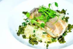 risotto άσπρων ψαριών και ρυζιού Στοκ Φωτογραφίες