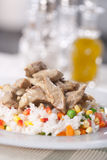Risotto με το κρέας και τα λαχανικά στοκ εικόνες