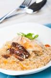 Risotto μανιταριών κοτόπουλου Στοκ Φωτογραφίες