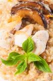 Risotto μανιταριών κοτόπουλου Στοκ φωτογραφία με δικαίωμα ελεύθερης χρήσης