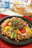 Risotto. With beef,and many Vegetables Stock Images