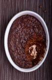 Risotto al forno del cioccolato Immagini Stock Libere da Diritti