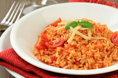 Risotto al pomodoro Royalty Free Stock Photos
