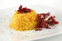 Risotto alla zucca, risotto with pumpkin Stock Photos