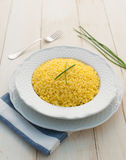 Risotto allo zafferano Royalty Free Stock Photos