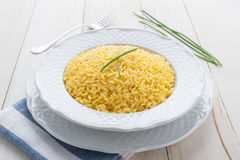 Risotto allo zafferano Stock Photography