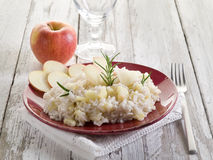 Risotto with apple Stock Photo