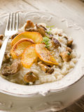 Risotto with apple and mushroom Royalty Free Stock Image