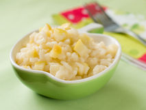 Risotto with apple Stock Images