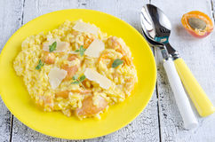 Risotto with apricots Royalty Free Stock Image