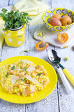 Risotto with apricots Stock Images
