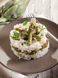 Risotto with artichokes Royalty Free Stock Photo
