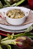 Risotto with artichokes Stock Photos