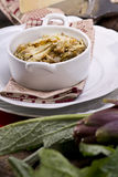 Risotto with artichokes. The first dish of rice with artichokes Royalty Free Stock Image