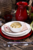 Risotto with artichokes. The first dish of rice with artichokes Stock Images