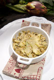 Risotto with artichokes. The first dish of rice with artichokes Royalty Free Stock Photos