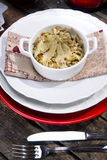 Risotto with artichokes. The first dish of rice with artichokes Stock Photography