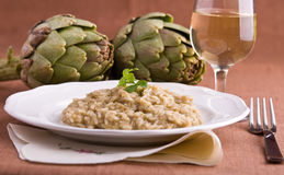 Risotto with artichokes. Stock Image