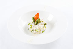 Risotto with asparagus Royalty Free Stock Photography