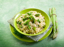 Risotto with asparagus Stock Photography