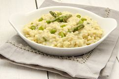 Risotto asparagus Stock Photography