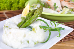 Risotto with asparagus Royalty Free Stock Photo